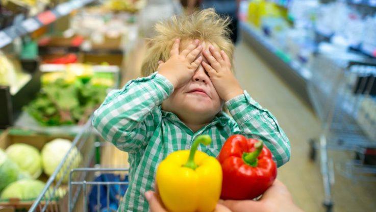 Dítě nechce jíst zeleninu