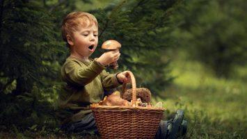 Děti na houbách