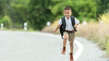 Dítě samo do školy
